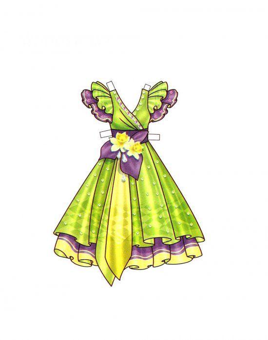 Паперова лялечка з одягом